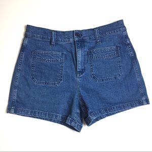 Madewell Shorts - Madewell High Rise Patch Pocket Denim Shorts